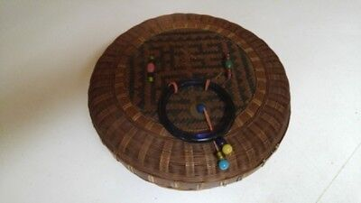 Vintage Chinese Hand-Woven Basket