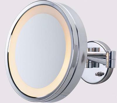 Makeup,Beauty, Cosmetic Magnifying  Mirror, 3X, Lighted,Wall Mounted, New, 240V