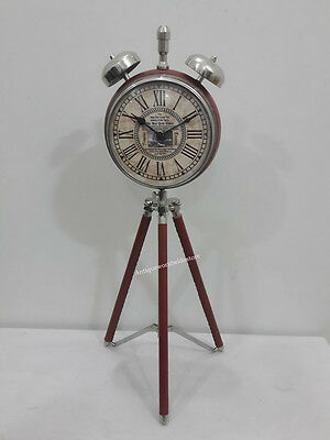 Vintage Style Table Top Desk Clock Collectible Watch Home Decorative