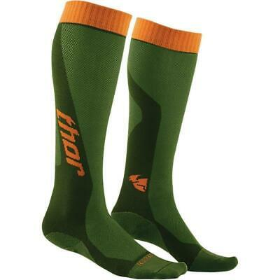 Thor MX Cool lange Socken Strümpfe 2017 grün orange Socks Motocross FMX Enduro