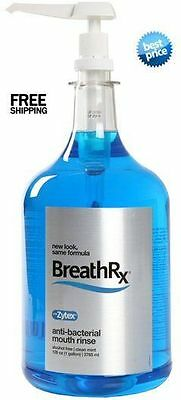 BreathRx Anit-Bacterial Mouth Rinse, Clean Mint 1 Gallon Size- Pump Included