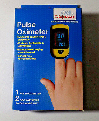 Walgreens Pulse Oximeter C20 OxyWatch Choicemmed With Case NEW