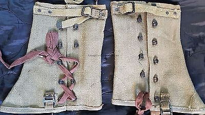 VINTAGE ITALIAN GAITERS,  camping, hiking, trekking, gaitors, puttees, WWII