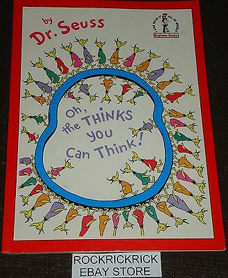 Dr. Seuss Book - Oh, The Thinks You Can Think! -1976- (Excellent Condition)