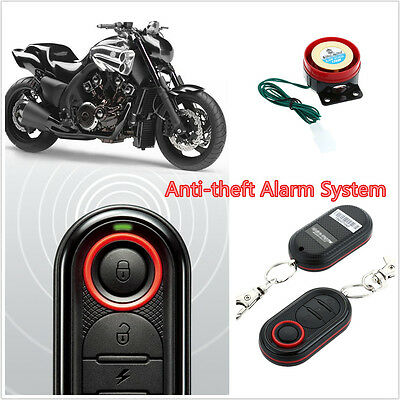 MOTORCYCLE SCOOTER ALARM SYSTEM Anti-Theft Security Immobilizer/Remote Start 12V