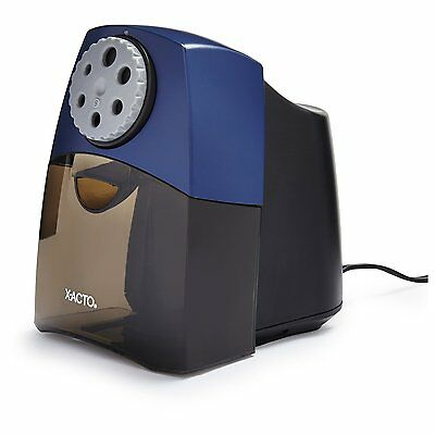 XACTO TeacherPro Classroom Electric Pencil Sharpener, SmartStop, Black, New