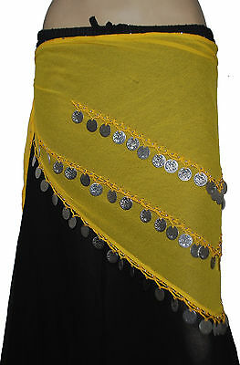 Pack of 12 colors Hip Scarves for Belly Dancing