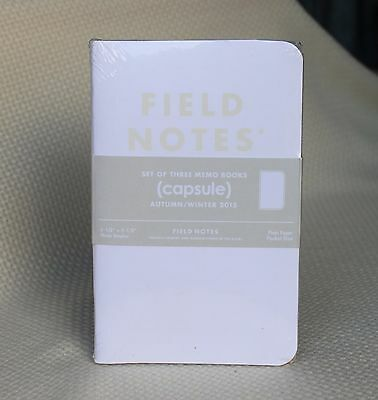 Field Notes Capsule Edition AW15 White Sealed Notebook 3-Pack