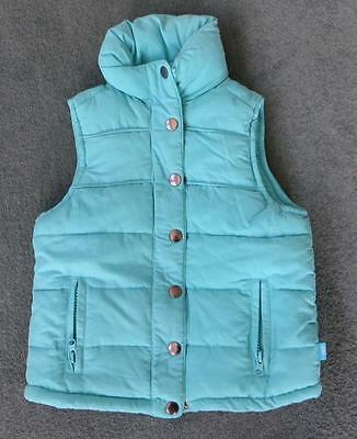 Pumpkin Patch Turquoise Bodywarmer / Gilet Age 4 Sleeveless Jacket Padded warm