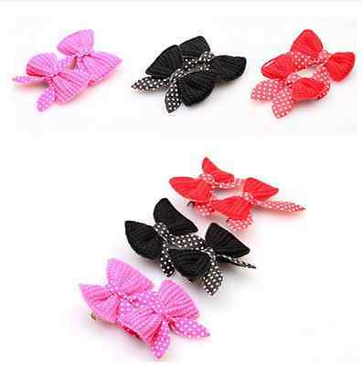 Dog & Puppy Hair Bands Hairpin Headdress Grooming Bows Dog Hairclips Accessory