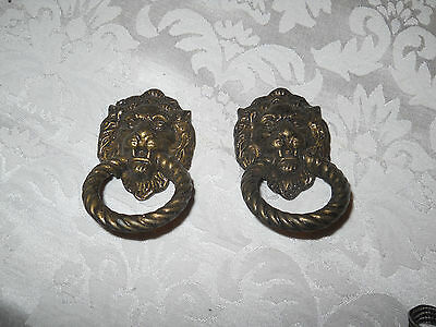2 Metal Lion Heads