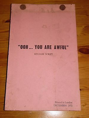 """Dick Emery """"Ooh... You Are Awful"""" Original Release Movie Script December 1972"""