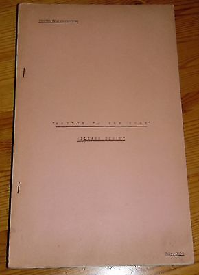 """Eric Sykes """"Rotten To The Core"""" Genuine Original Release Movie Script July 1965"""