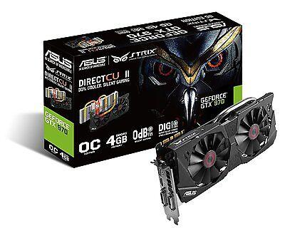 Asus STRIX Nvidia GeForce GTX 970 Scheda Video, OC, 4 GB GDDR5