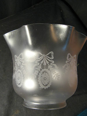 ORIGINAL ETCHED TULIP SHADE for an  OIL LAMP.