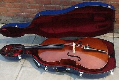 4/4 Size Palatino Cello Model P31-06Vc-44 Good Condition With Hard Shell Case