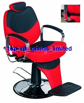 New Red & Black reclining salon barber chair for hair cutting BX-1045B uk
