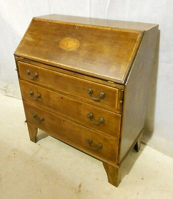 ANTIQUE VICTORIAN CHILDS BUREAU c1890-1910 MAHOGANY STUDENTS BUREAU PC DESK
