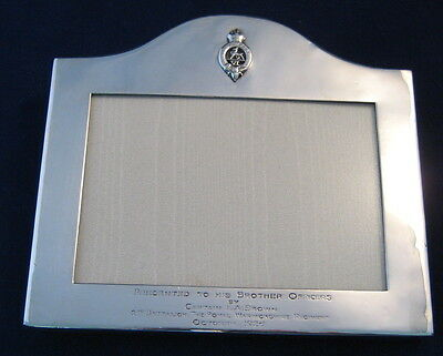 A large silver military photo frame London 1924