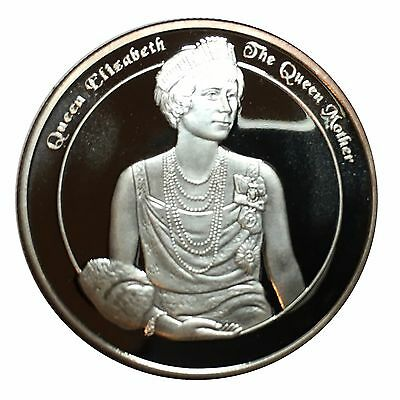 2001 Turks & Caicos Islands Queen Mother Silver Five Crowns Coin (S4)