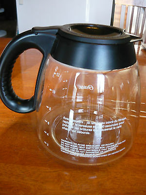 OSTER 12-cup 12 cup 12 cups replacement glass carafe black 3305-33 7995-33