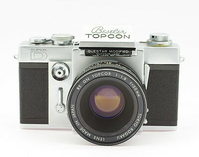 Beseler Topcon Super D 35mm Film SLR Camera with Topcor RE GN 1.8/50 mm