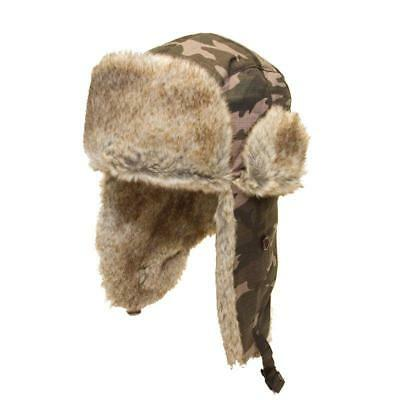 Mens Ladies Unisex Camo Trapper Warm Winter Hat