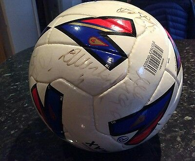 Hand Signed Rangers Football