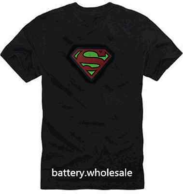Music Sound Activated LED Superman FREE batteries Pub Clubbing | NO T-SHIRT