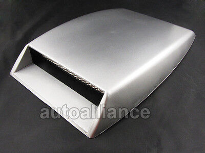 Silver Car Trunk Decorative Air Flow Intake Hood Scoop Vent Bonnet Cover