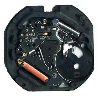 Hattori VX33A at 3 O'Clock Seiko Quartz watch movement (new) - MZHATVX33A