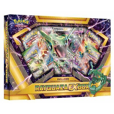 Pokemon Rayquaza EX Trading Cards Collection Box x4 booster packs