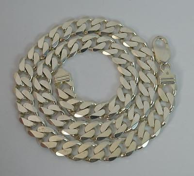 """Heavy Bling Solid Silver Mens 20"""" Inch Curb Link Necklace Chain"""