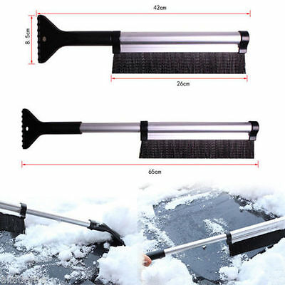 Extendable Snow Ice Scraper Car Vehicle Window Shovel Clear Brush Cleaner Tool