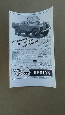 1951 Land-Rover 4wd SUV Goes Pulls Does art vintage print ad