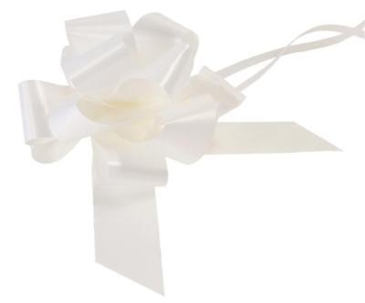 5 x White 50mm Waterproof Poly Pull Bows
