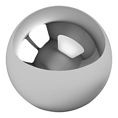 "One Large 4"" Inch Chrome Solid Steel Bearing Ball G100, New, Free Shipping"