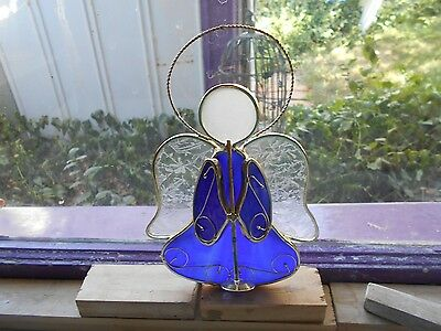 """Stained Glass Angel Cobalt Blue 5 1/2 X 8 """""""