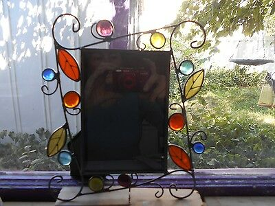 Stained Glass Picture Frame  9 1/2 X 7 1/2 ""