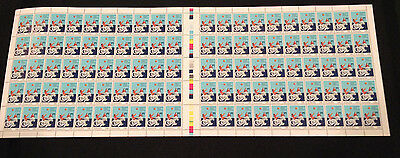 Very Rare Not Folded Full Sheet 100 MNH 1981-Year of Disabled Persons 24c Stamps