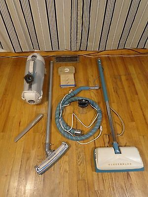 Vintage Electrolux Model R with Power Nozzle and Attachments