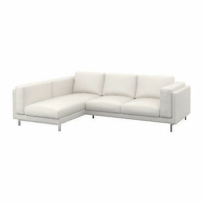 IKEA new in box Nockeby 2 Seat Sofa + L/C  COVERS ONLY Risane White FREE POSTAGE
