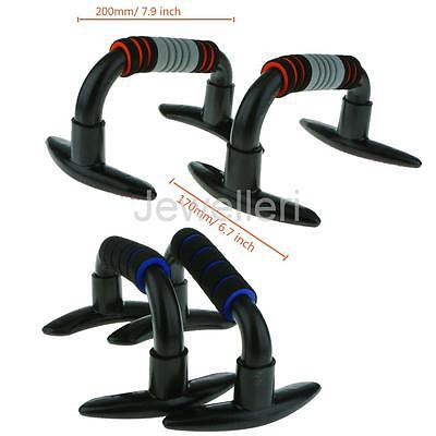 Push Up Bars Pushup Stands Handles Grips Bar -Strength Exercise Fitness Home Gym