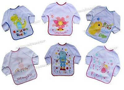 Baby Bib Coverall Apron with Long Sleeve and Waterproof Back, Boys, Girls