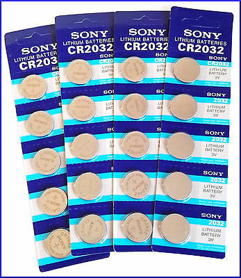 5 X Pilas Boton Sony Bateria Cr2032 De Litio 3V Lithium Battery Cr 2032 Cr-2032