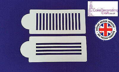 Stencils Cake Cupcake Decorating Craft Airbrush Buttercream| Check Stripes