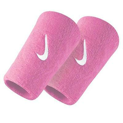 NIKE Swoosh Wristbands Doublewide - Pink / White -  Armbands