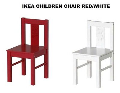 Ikea KRITTER  Children's chair Wooden Chair,White & Red Fast & Free delivery new