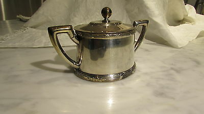 Mexican Silver sugar bow with lid  Substancial piece Mexican silver