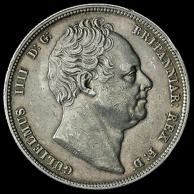 1836 William IV Milled Silver Half Crown – Near EF